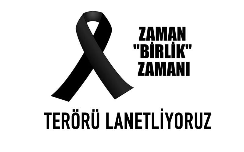 Ankara da büyük patlama terörü lanetliyoruz.