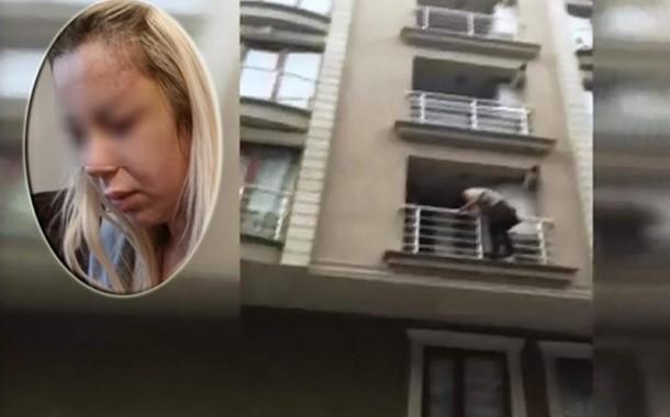 Nişanlısı tarafından işgence edilen bayan balkondan kaçtı