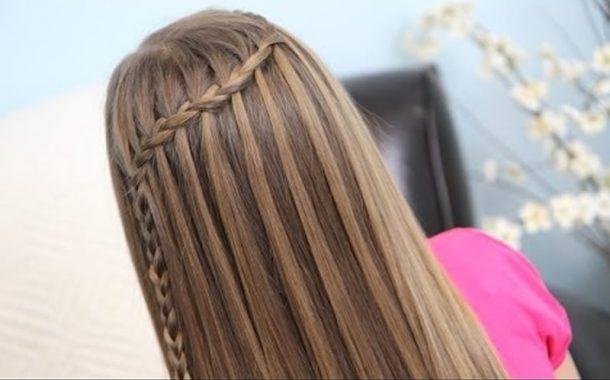 Şelale saç örgü modeli