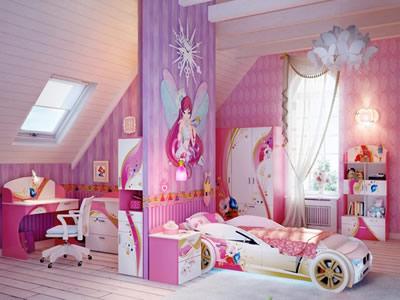 okullu kız odası tasarım