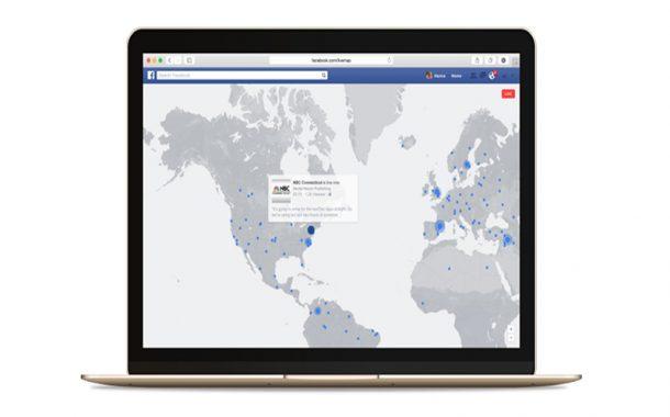 Facebook'ta   'canlı harita'
