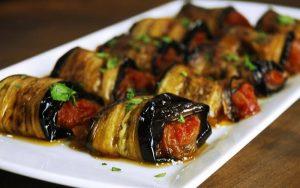 zeytinyağlı patlıcan rulo