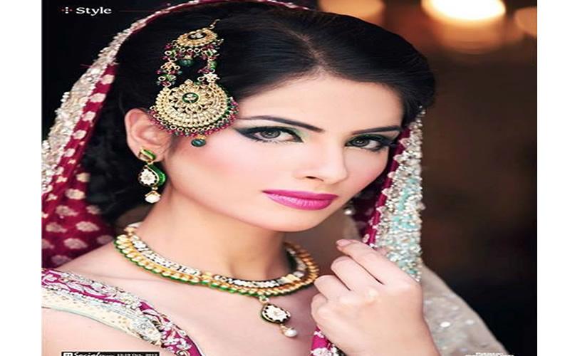 Hindistan geleneksel gelin makyajı