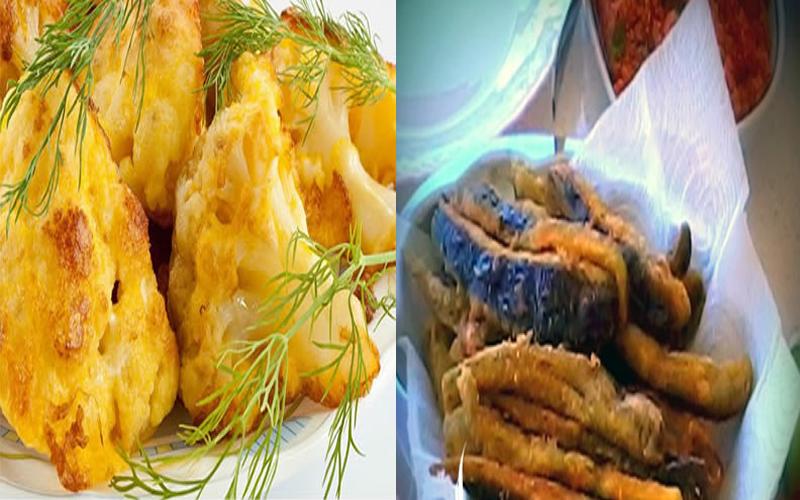 Patlıcan ve Karnabahar Kızartması
