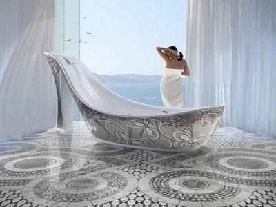 banyoda ilginç tasarım