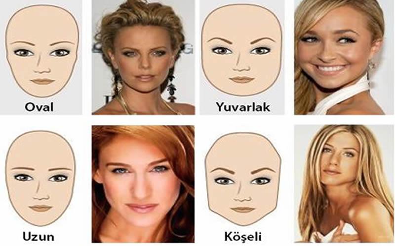 Yüz şekline uygun makyaj